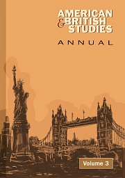 Obálka knihy: American and British Studies Annual 3/2010