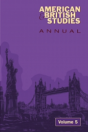 Obálka knihy: American and British Studies Annual 5/2012